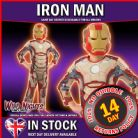 FANCY DRESS COSTUME ~ BOYS MARVEL AVENGERS PREMIUM IRON MAN 3 MED AGE 5-6